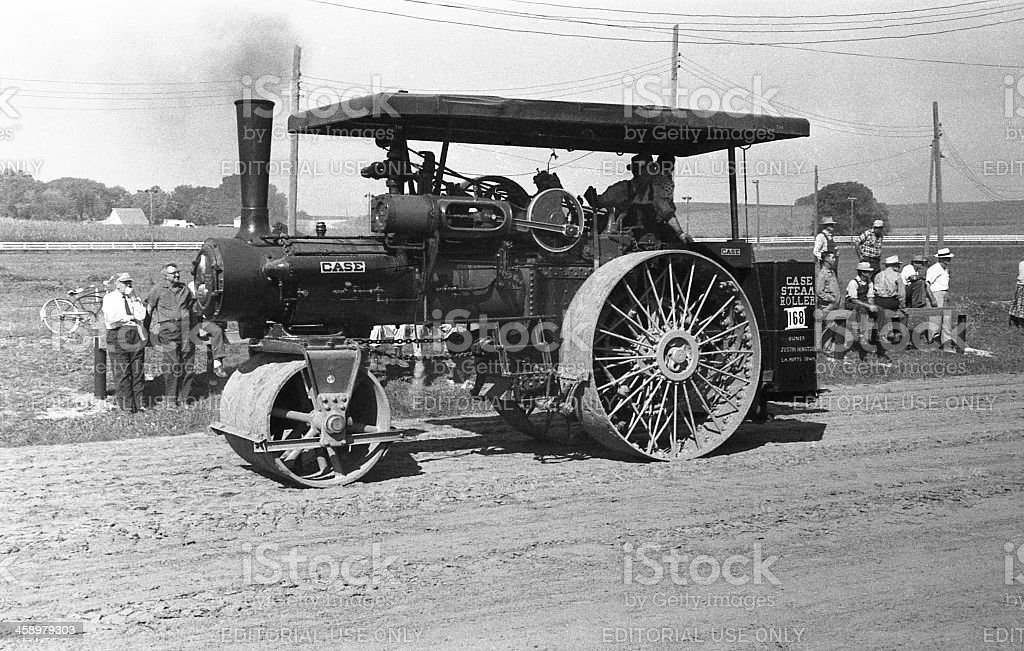 Case steamroller royalty-free stock photo