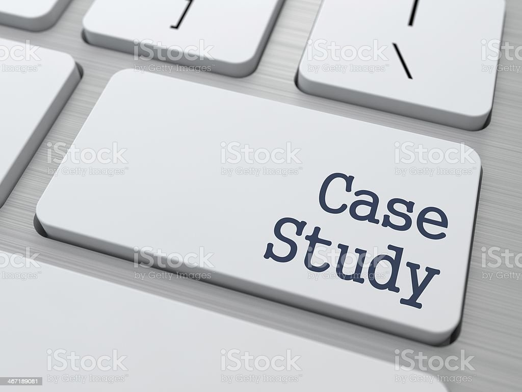 Case Study on Button of White Keyboard. royalty-free stock photo