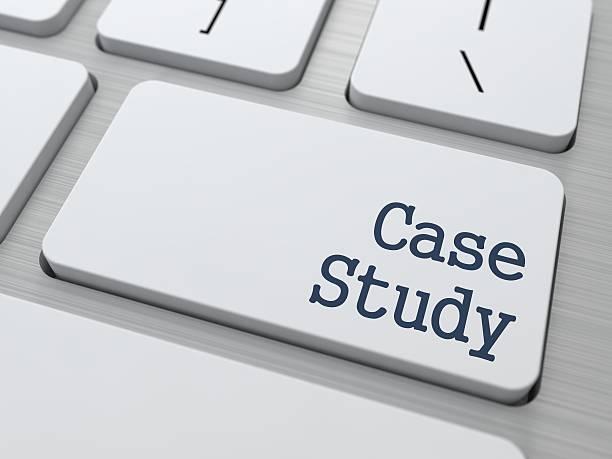 Case Study on Button of White Keyboard. stock photo