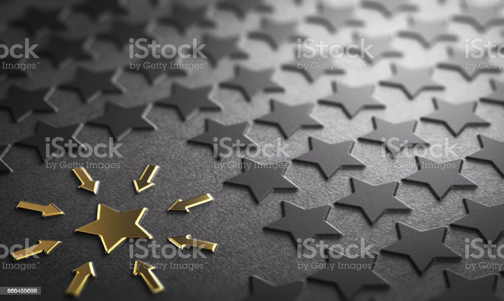 Case Study or focus on one element stock photo