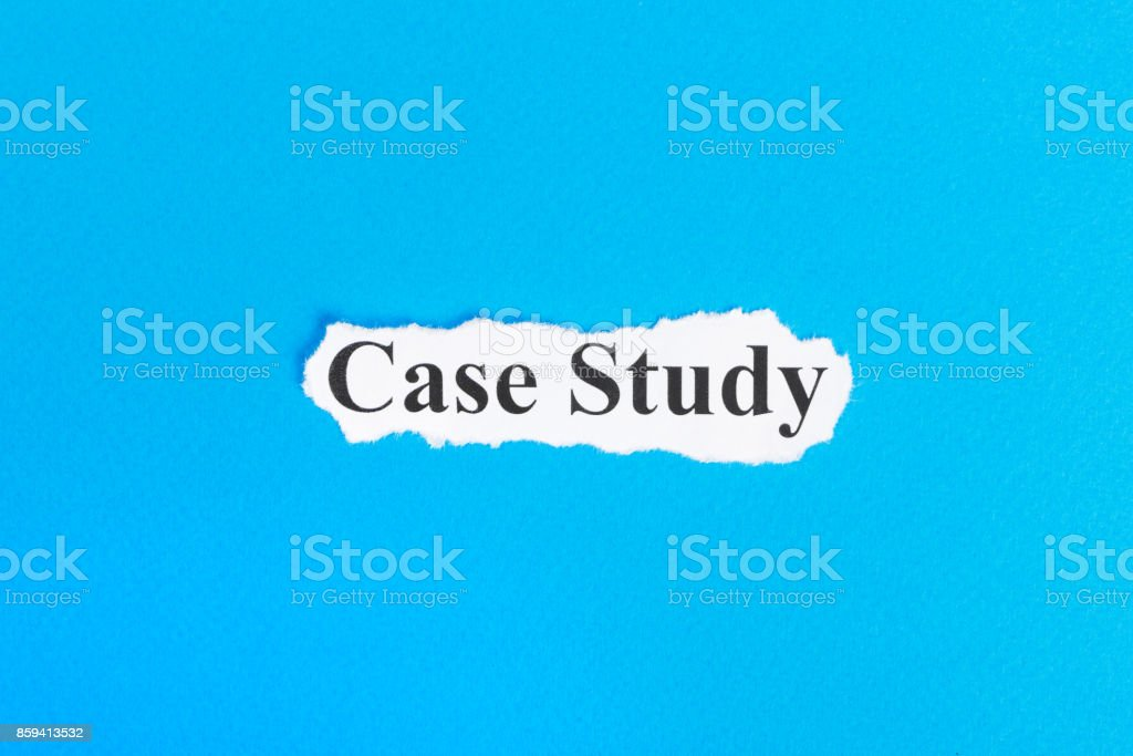Case Study text on paper. Word Case Study on torn paper. Concept Image stock photo