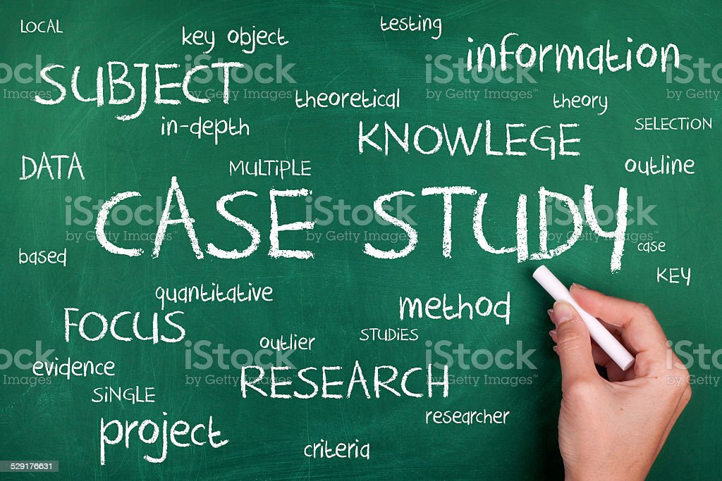 Case Study Word Cloud Concept stock photo