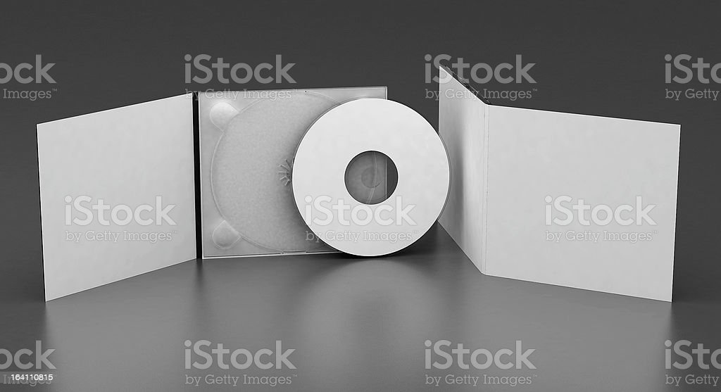 CD case template stock photo