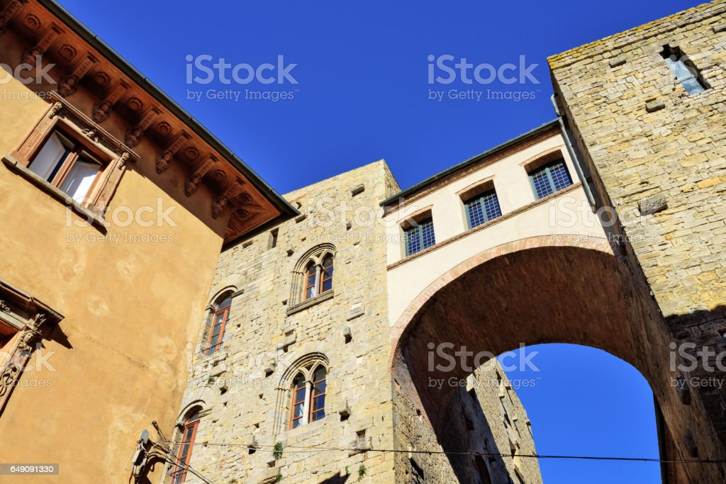 Case Torri  Buonparenti, Volterra, Italy stock photo