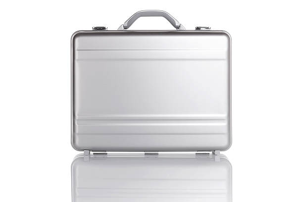 Case with reflection A metal case with reflection briefcase stock pictures, royalty-free photos & images