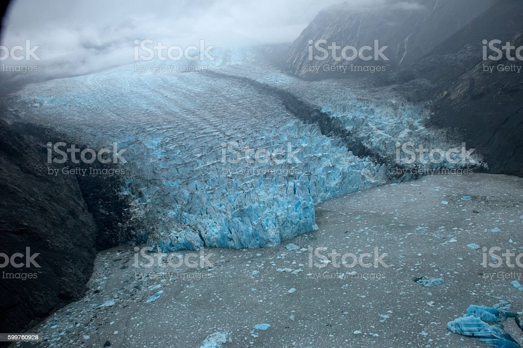 Casement Glacier, Alaska Aerial stock photo