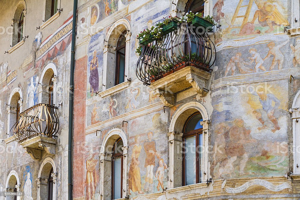 Case-Rella Cazuffi, Trento, Italy stock photo