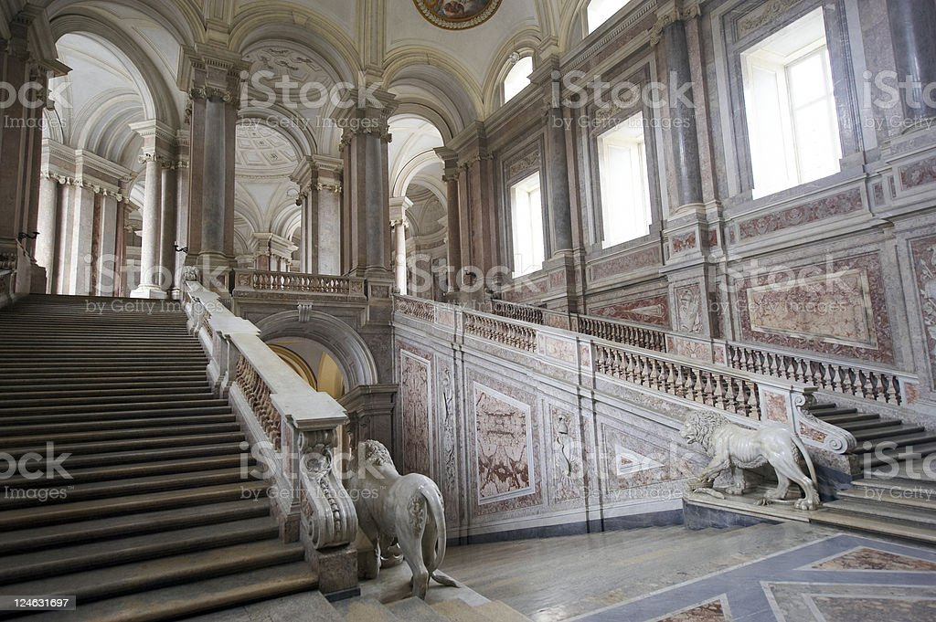 caserta royal palace stock photo