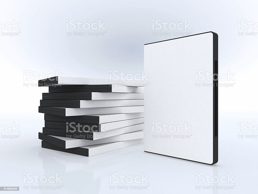 DVD cases , software presentation royalty-free stock photo