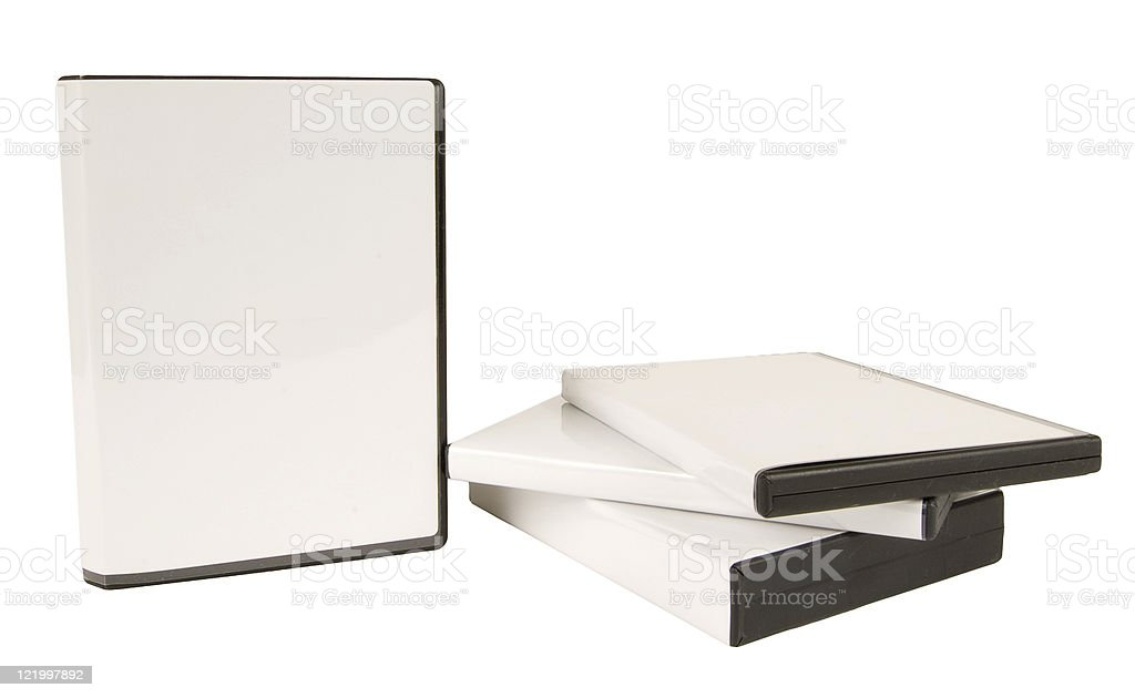 DVD CasesWith Blank Covers royalty-free stock photo