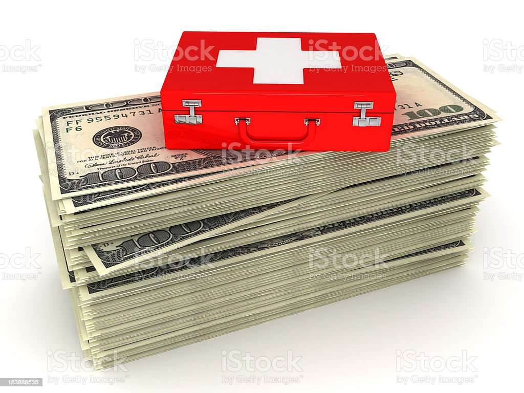 Cash and first aid royalty-free stock photo