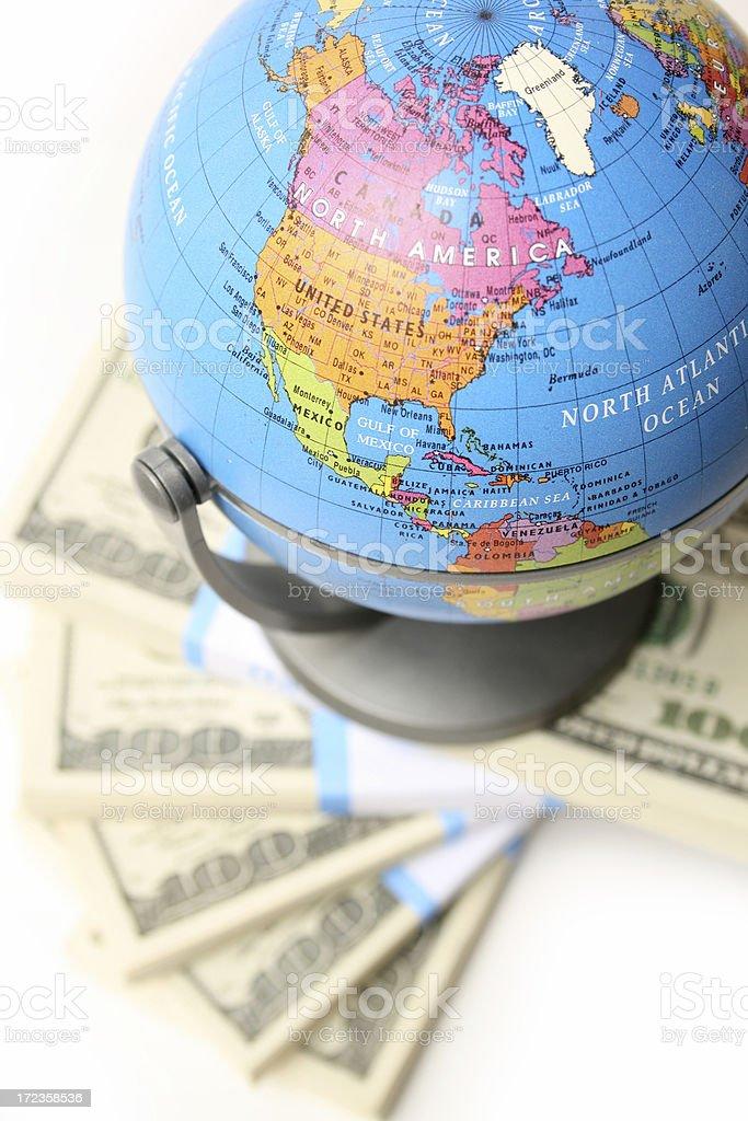 Cash y globo foto de stock libre de derechos