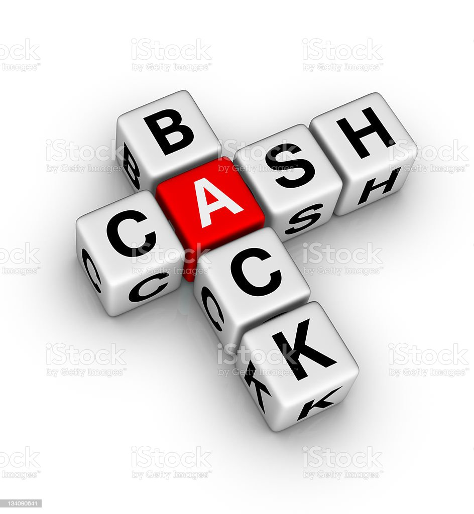 cash back icon stock photo