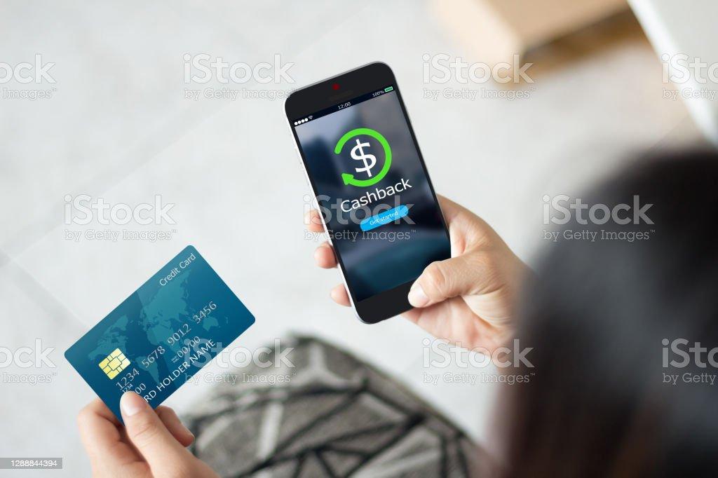 Dinheiro de volta recompensa conceito ponto. - Foto de stock de Cartão de crédito royalty-free