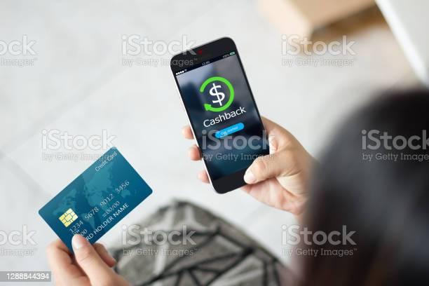 Foto de Dinheiro De Volta Recompensa Conceito Ponto e mais fotos de stock de Cartão de crédito
