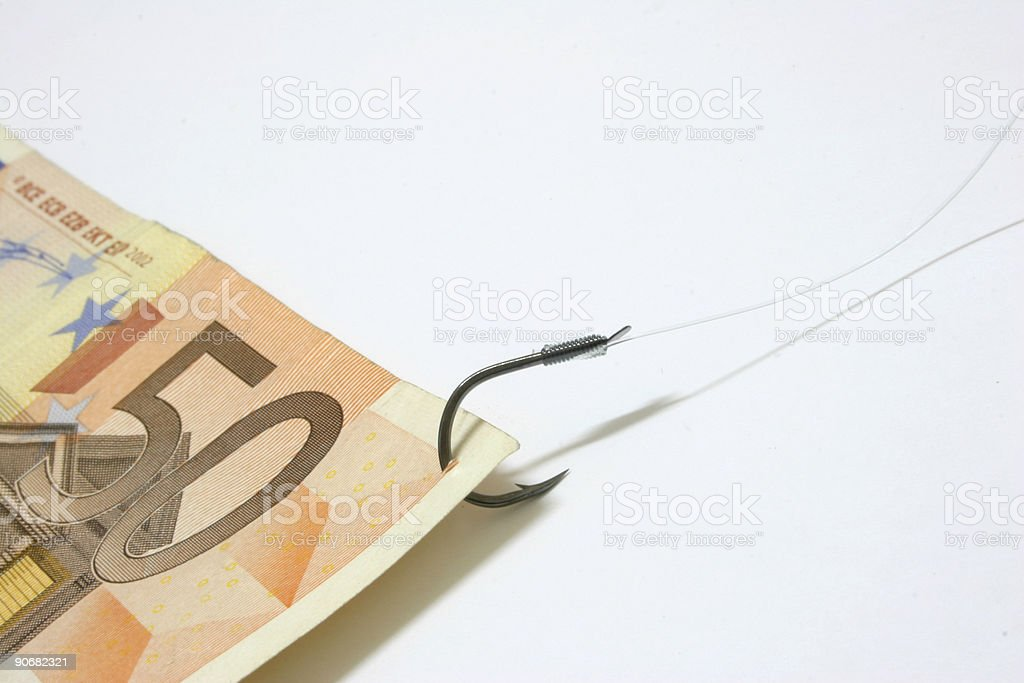 Cash Bait stock photo