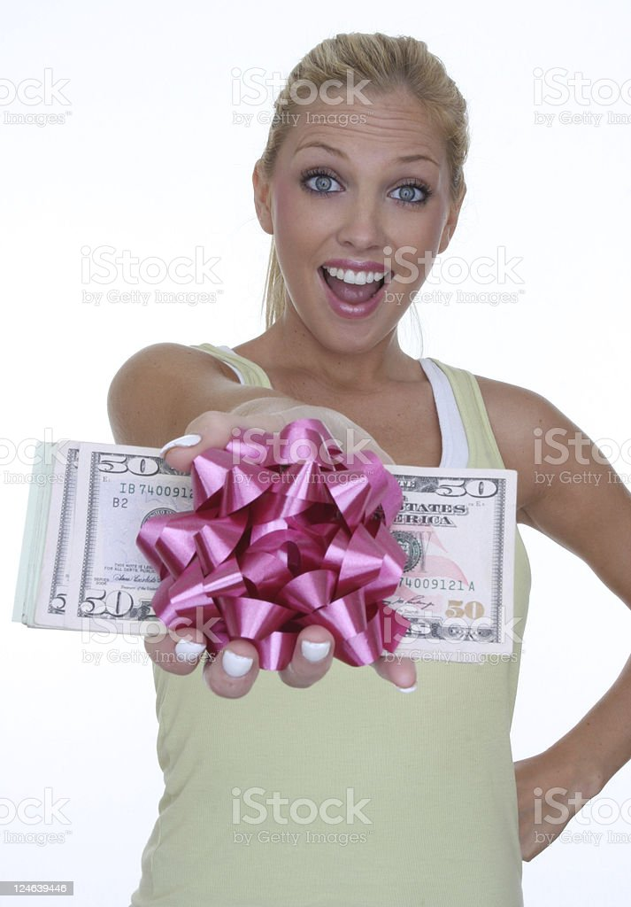 cash bonus stock photo