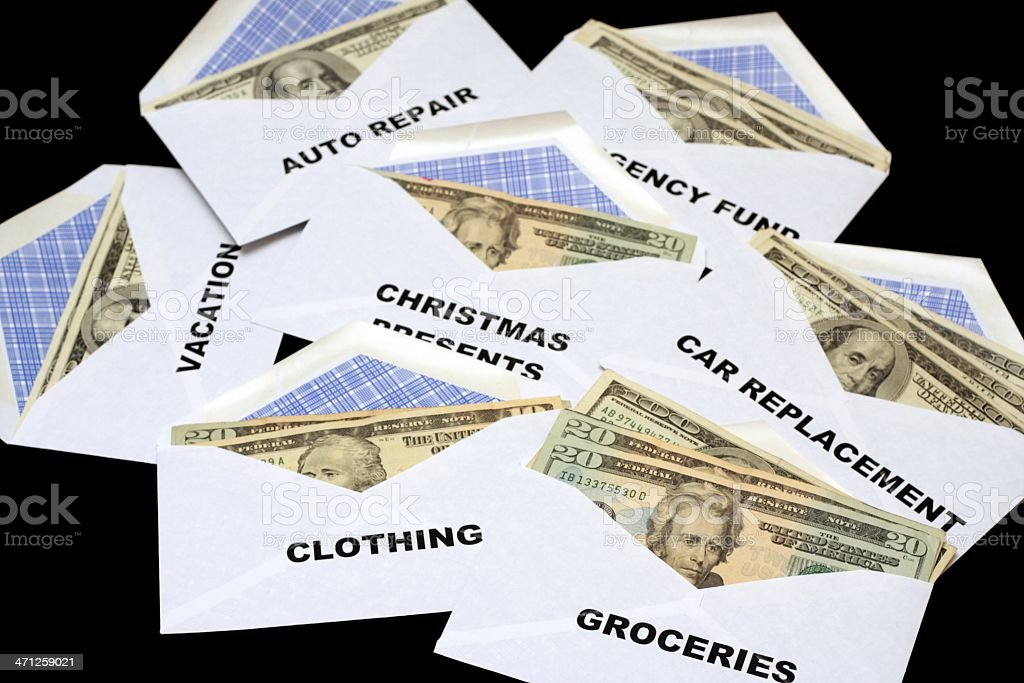 Cash Budget Envelopes royalty-free stock photo
