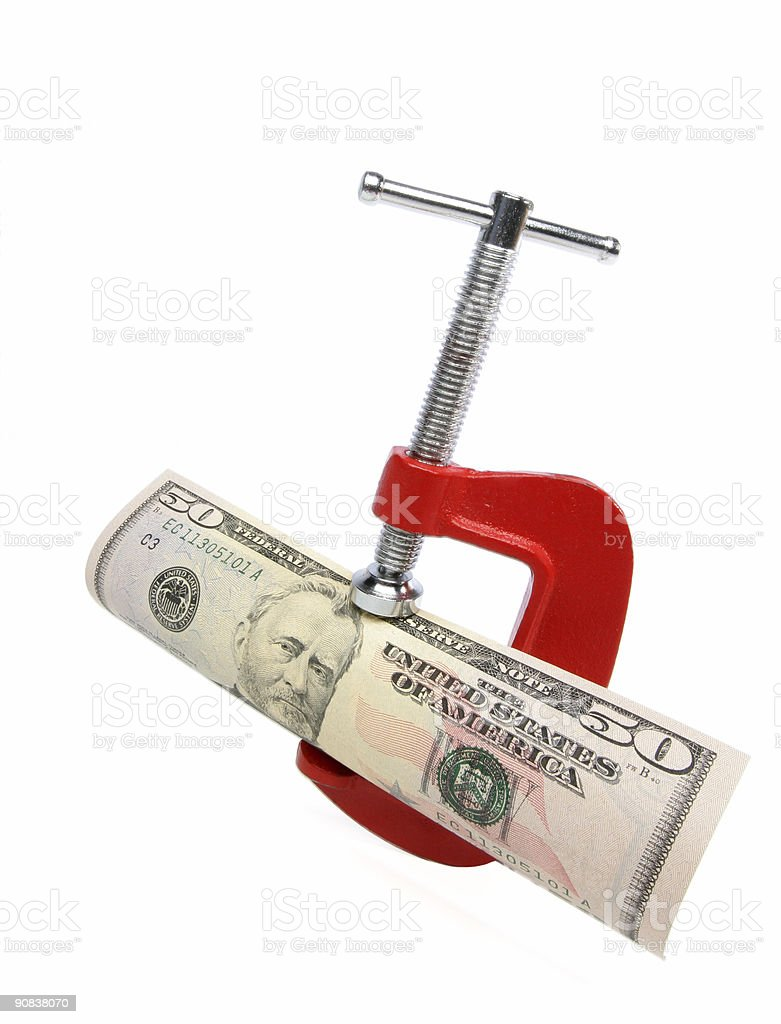 Cash Clamp royalty-free stock photo