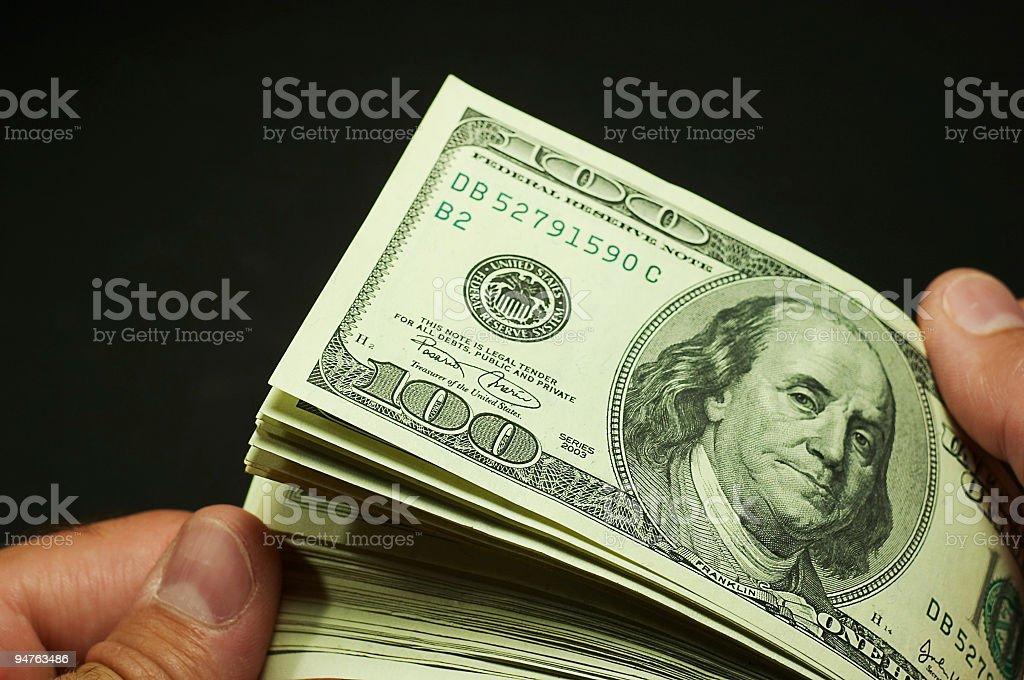 cash count #2 stock photo