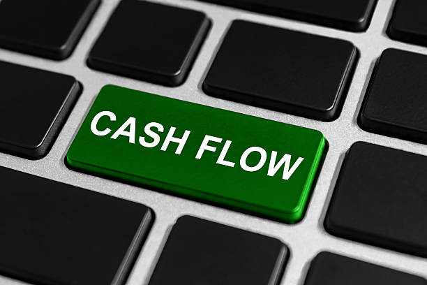 cash flow button on keyboard stock photo