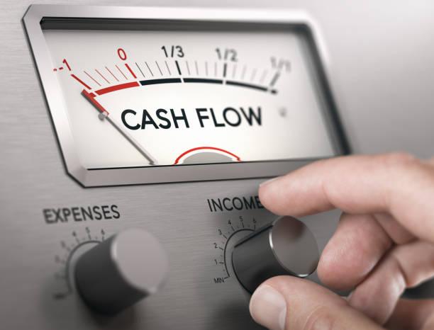 Cash Flow Crisis Concept. Risk of insolvency. stock photo