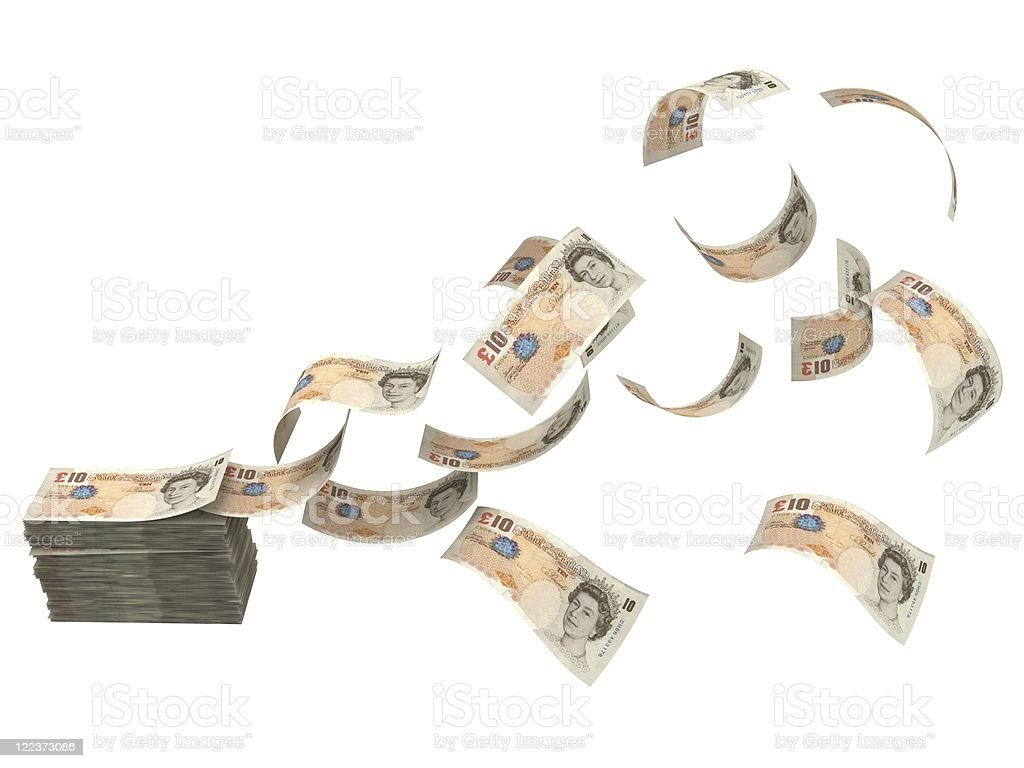 Cash Flow - Pounds royalty-free stock photo