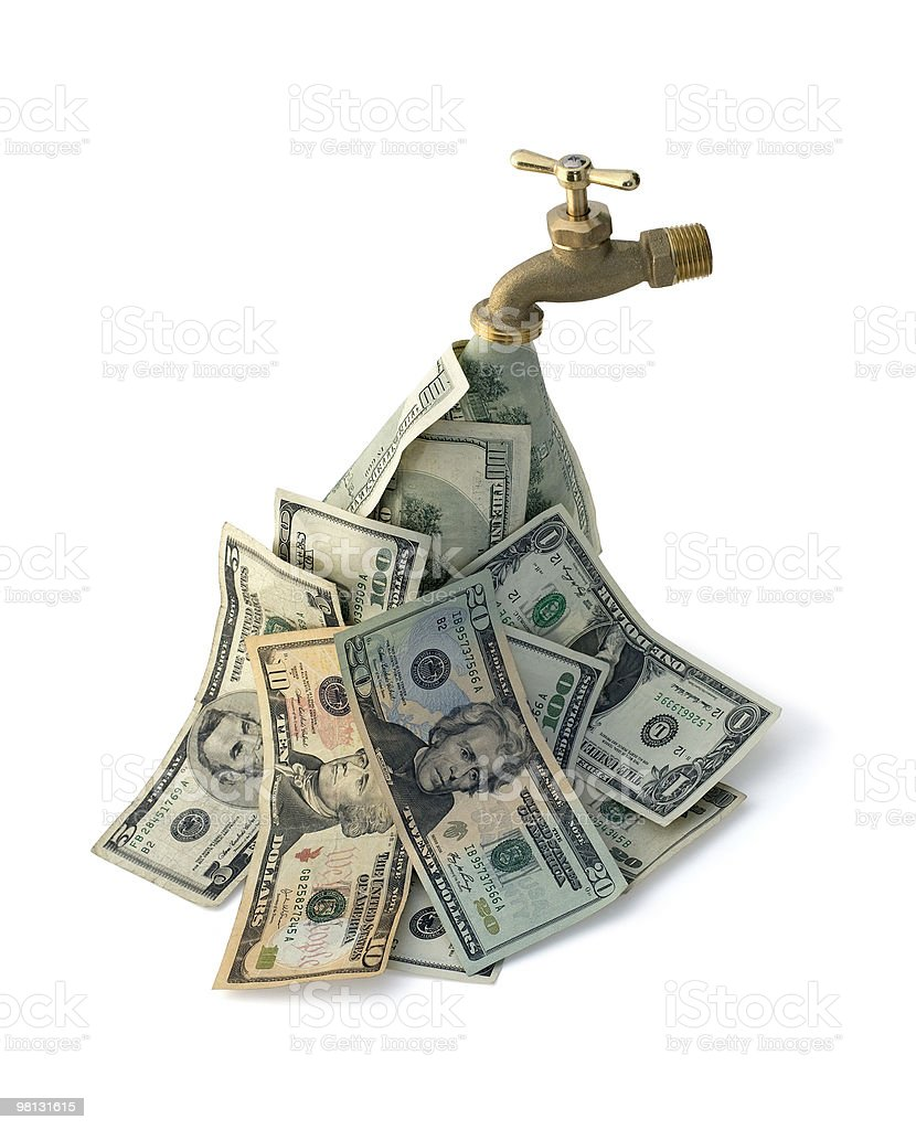 Cash Flowing royalty-free stock photo