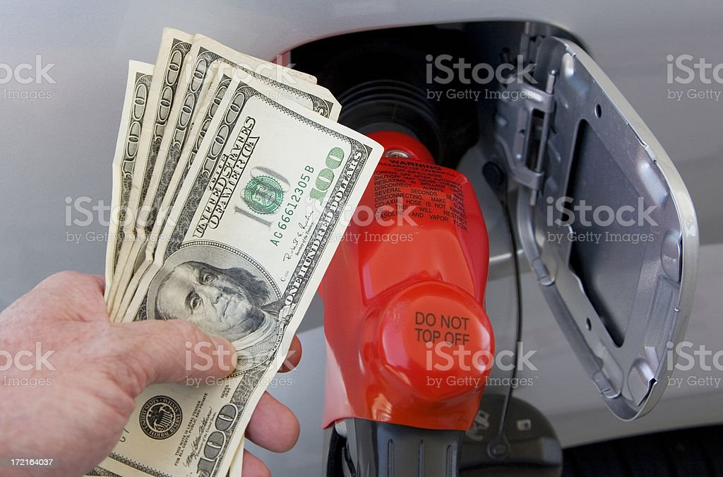 Cash for Gas (#1 of series) royalty-free stock photo