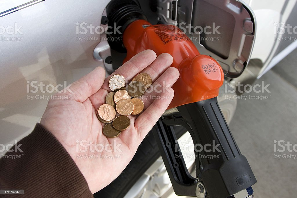 cash for gas (#5 of series) stock photo