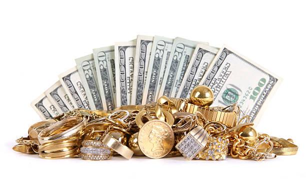 dinheiro de ouro - jóia - fotografias e filmes do acervo