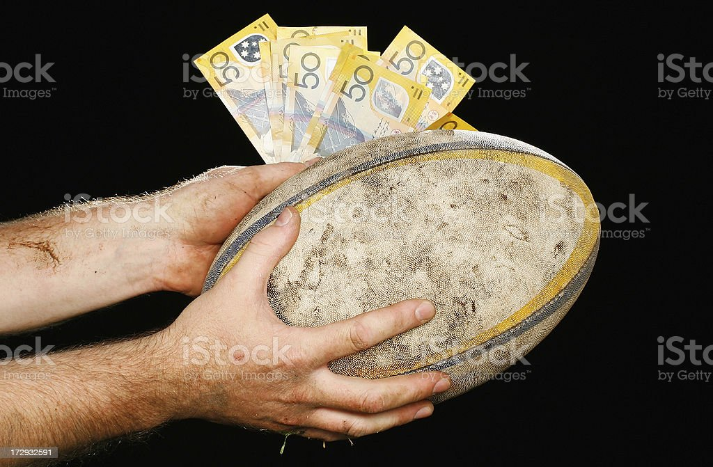 Cash for Rugby royalty-free stock photo