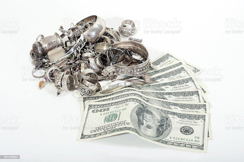 Efectivo para Sterling plata descarte - foto de stock