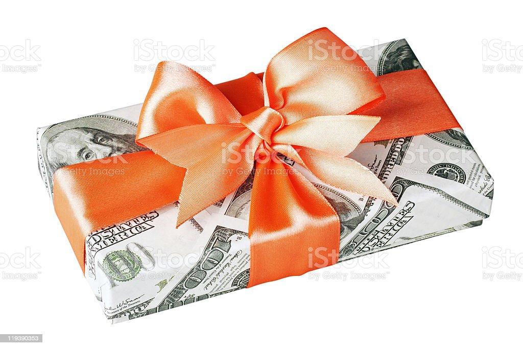cash gift royalty-free stock photo