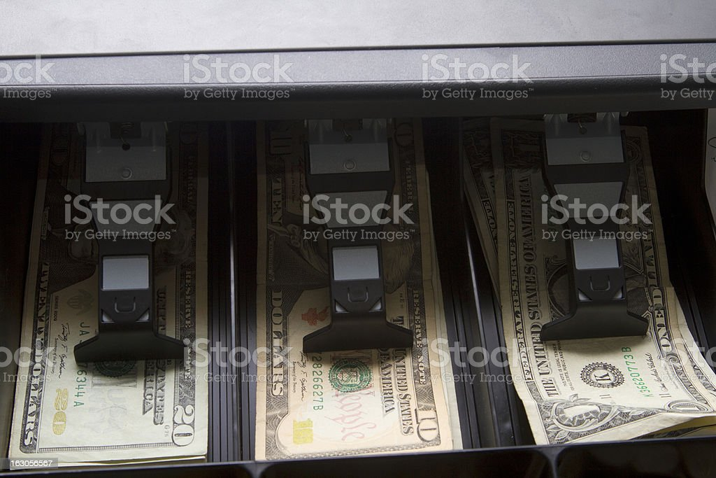 Cash in Drawer royalty-free stock photo