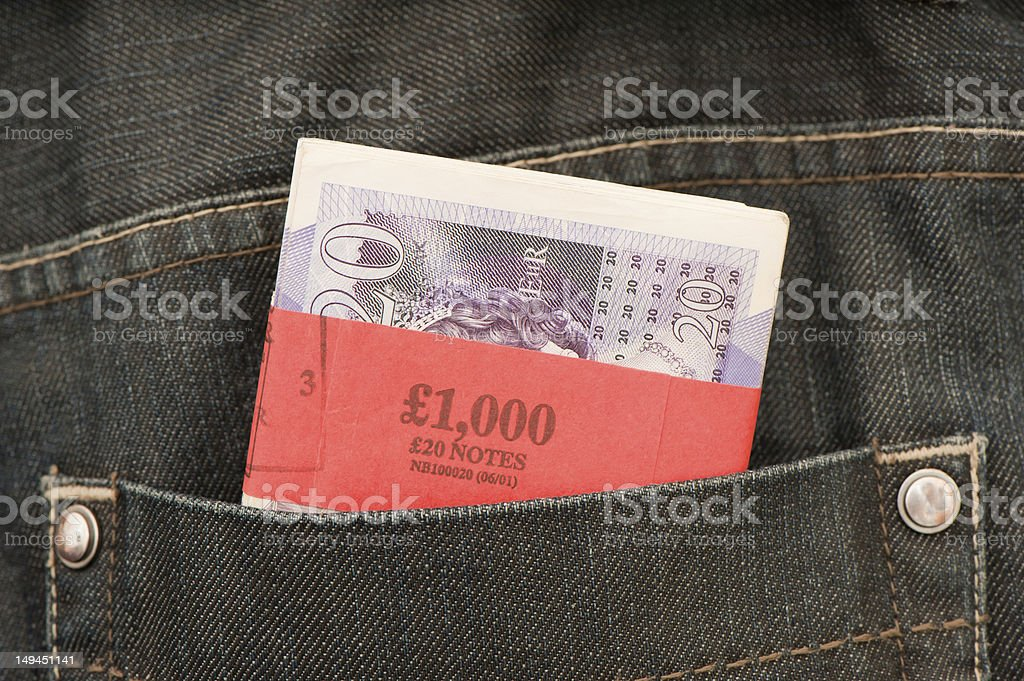 Cash in the Back Pocket stock photo