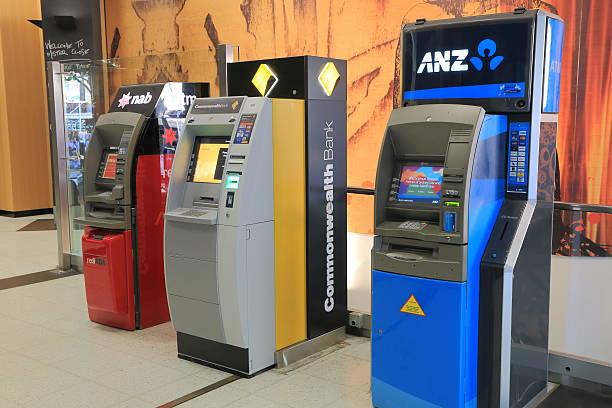 Cash machine ATM stock photo