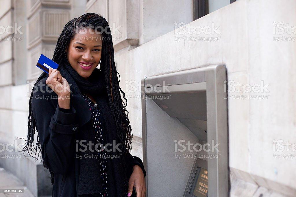 cash machine stock photo