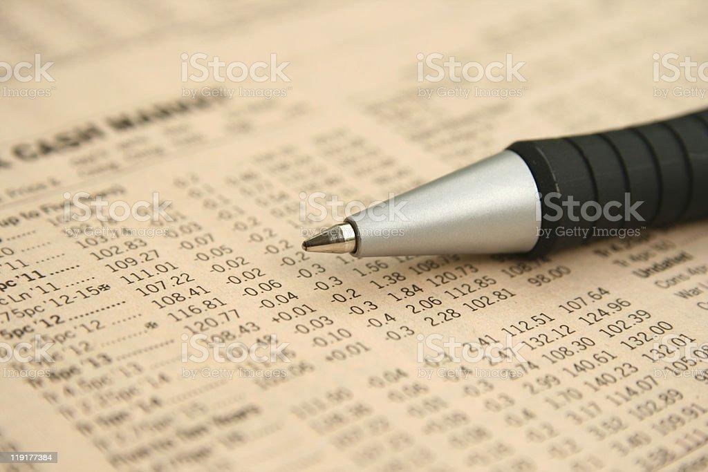 Cash market report royalty-free stock photo