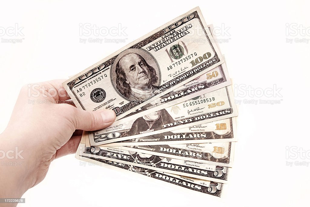 Cash On Hand royalty-free stock photo