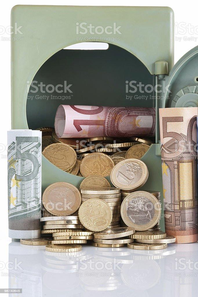 cash on safe royalty-free stock photo