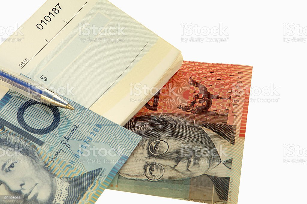 Cash or  Check 3 royalty-free stock photo