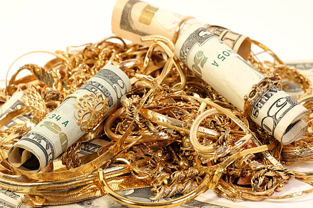 Cash paid for your old jewelry stock photo
