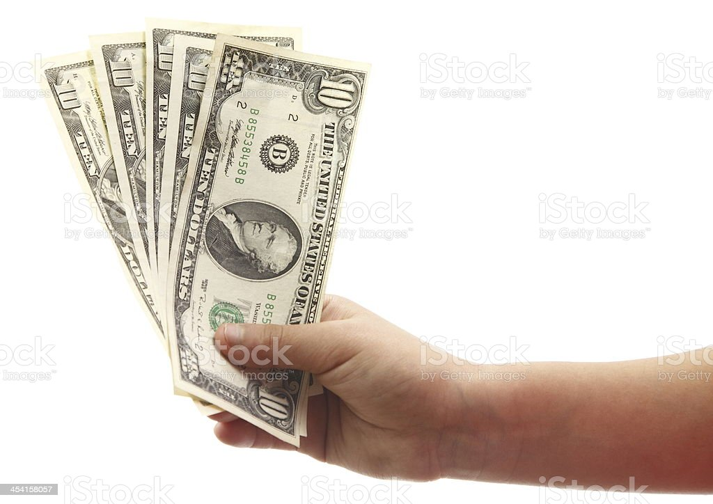 US Cash royalty-free stock photo