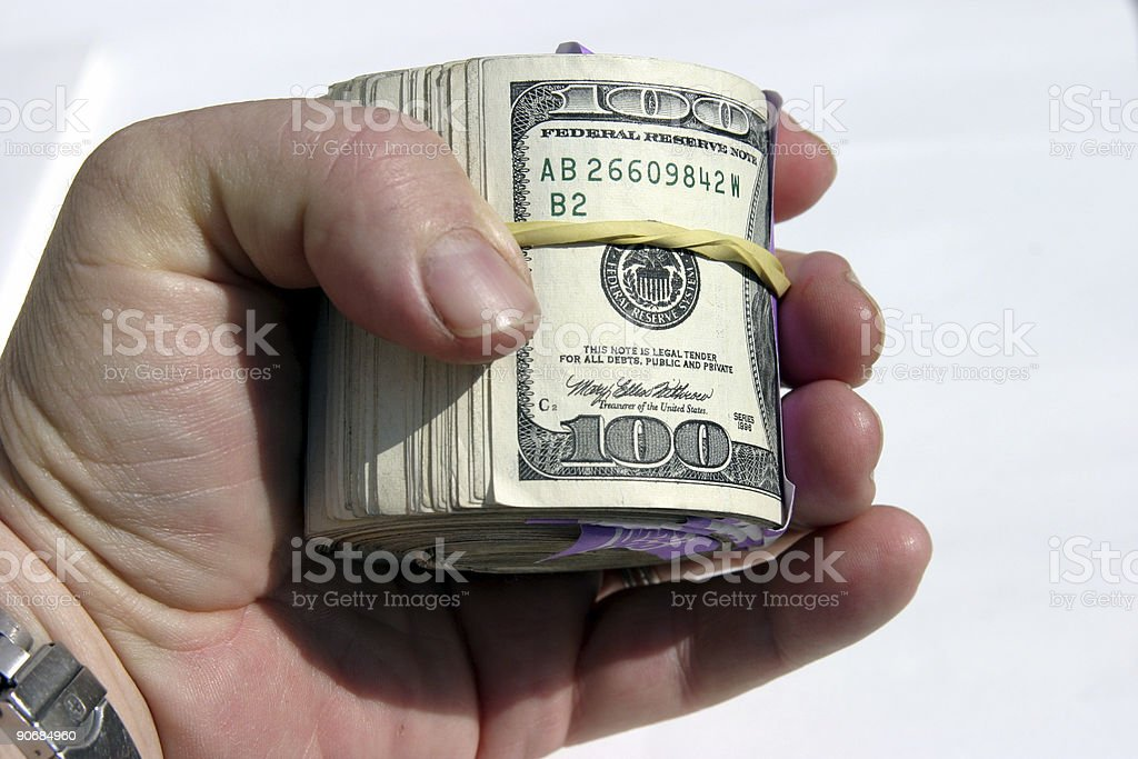$10,000.00 Cash #3 royalty-free stock photo