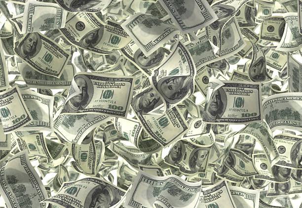 Cash Rain (lots!) stock photo