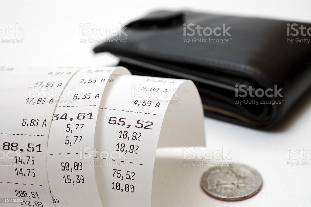 Cash receipt royalty-free stock photo