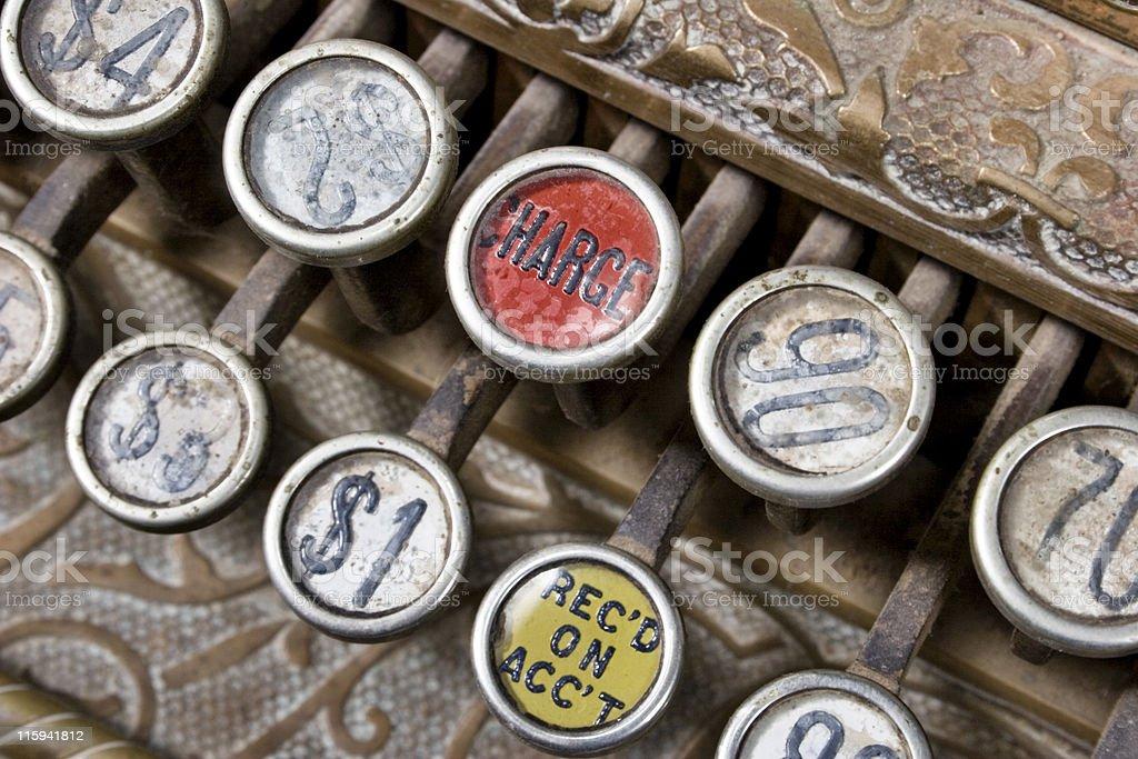 Cash Register Keys stock photo