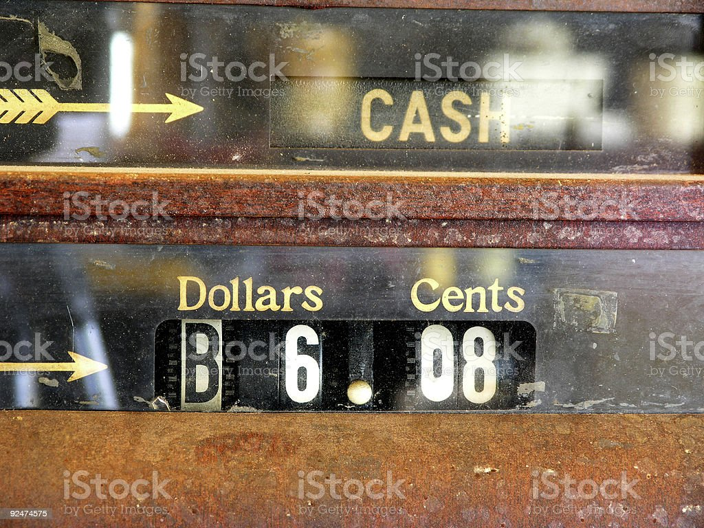 Cash Register, Old Style royalty-free stock photo