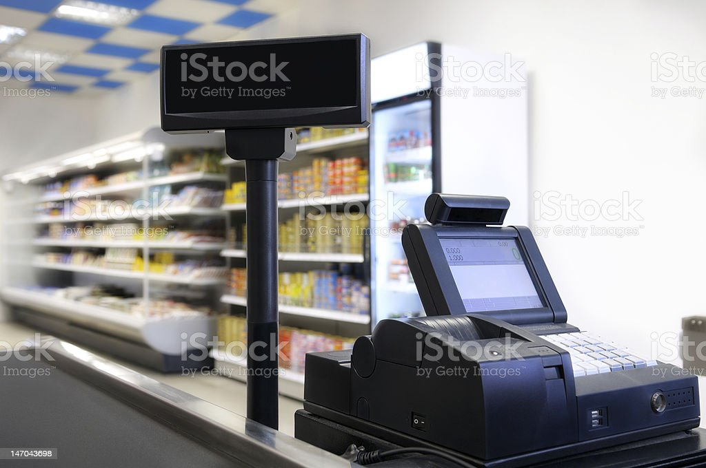Cash register. stock photo